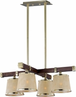 Maxim 20525AFAPSBR Maritime Antique Pecan and Satin Brass Pendant Lighting Fixture
