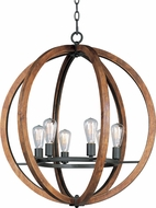 Maxim 20918APAR Bodega Bay Anthracite Chandelier Lighting