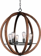 Maxim 20918APAR-BUI Bodega Bay Anthracite 30  Ceiling Pendant Light