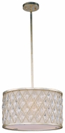 Maxim 21455OFGS Diamond Small 3-light Golden Silver Crystal Pendant Lamp