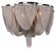 Maxim 21460NKPN Chantilly 6 Light Flush Mount Crystal Ceiling Lighting