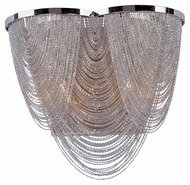 Maxim 21469NKPN Chantilly 2 Lamp Crystal 11 Inch Tall Wall Sconce Lighting - Polished Nickel
