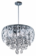 Maxim 21475WGPN Ripple Polished Nickel Water Glass 19 Inch Diameter Pendant Lamp - Large