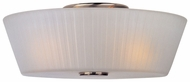 Maxim 21500FTSN Finesse 3-lamp Satin Nickel Flush Mount Lighting