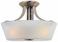 Maxim 21501FTSN Finesse 3-lamp Semi Fulsh Mount Lighting Fixture in Satin Nickel