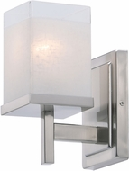 Maxim 2151LNSN Tetra Contemporary Satin Nickel Wall Sconce Lighting