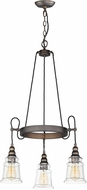 Maxim 21573HMOI Revival Contemporary Oil Rubbed Bronze Mini Chandelier Light