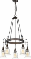 Maxim 21575HMOI Revival Modern Oil Rubbed Bronze Ceiling Chandelier