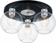 Maxim 21610CLBKAL Vessel Contemporary Black / Brushed Aluminum Ceiling Lighting Fixture