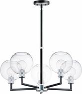 Maxim 21615CLBKAL Vessel Modern Black / Brushed Aluminum Chandelier Light