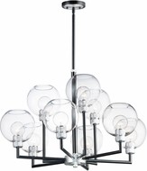 Maxim 21616CLBKAL Vessel Contemporary Black / Brushed Aluminum Chandelier Lighting