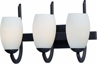 Maxim 21643SWTXB Taylor Contemporary Textured Black 3-Light Bathroom Wall Sconce