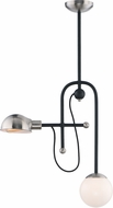Maxim 21664WTBKSN Mingle LED Modern Black / Satin Nickel LED Drop Ceiling Lighting