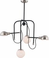 Maxim 21666WTBKSN Mingle LED Modern Black / Satin Nickel LED Mini Chandelier Lamp
