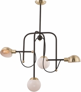Maxim 21666WTBZSBR Mingle LED Contemporary Bronze / Satin Brass LED Mini Chandelier Light