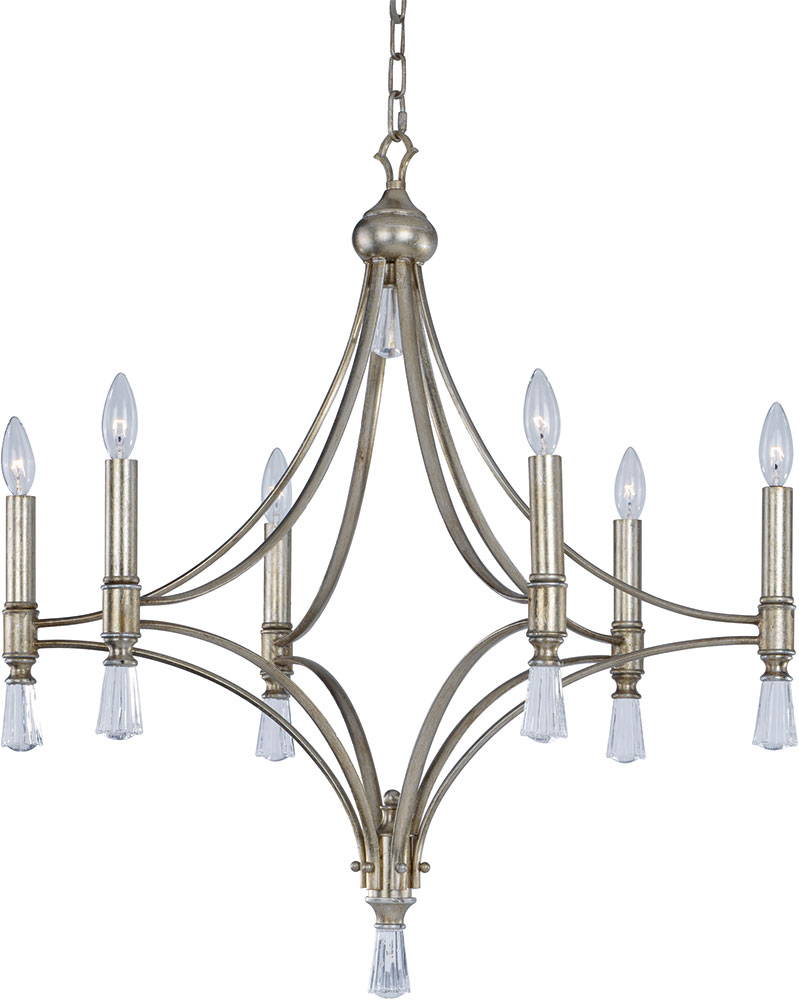 Maxim 21685clsg Regal Silver Gold Chandelier Lamp Max