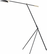 Maxim 21694BKSBR Scan Contemporary Black / Satin Brass LED Floor Lamp