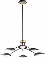 Maxim 21696BKSBR Scan Modern Black / Satin Brass LED Lighting Chandelier