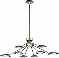 Maxim 21699BKSBR Scan Contemporary Black / Satin Brass LED Chandelier Lamp