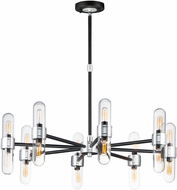Maxim 21708CLBKAL Dual Contemporary Black / Brushed Aluminum Outdoor Ceiling Chandelier