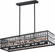 Maxim 21817BCBK Madeline Modern Black Island Lighting