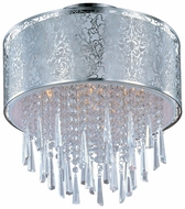 Maxim 22291WTSN Rapture White Shade Modern Crystal Flush Mount Lighting