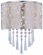 Maxim 22297WTSN Rapture Contemporary White Shade 2-light Wall Lighting Sconce