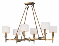 Maxim 22376OMNAB Fairmont Natural Aged Brass 22 Inch Diameter Lighting Chandelier