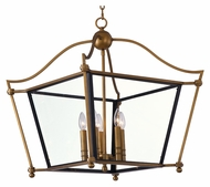 Maxim 22396CLNAB Ritz 25  Tall Natural Aged Brass Chandelier Lighting