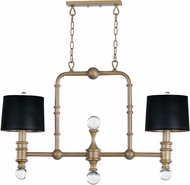 Maxim 22422CLWBR Saloon Contemporary Weathered Brass Island Lighting
