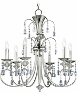 Maxim 24306CLPN Montgomery Polished Nickel 28  Hanging Chandelier