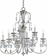 Maxim 24307CLPN Montgomery Polished Nickel 34  Ceiling Chandelier