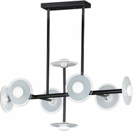 Maxim 24768FTSWBK Helio Contemporary Black LED Island Lighting