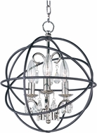 Maxim 25140ARPN Orbit Anthracite and Polished Nickel Pendant Light Fixture