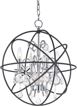 Maxim 25142ARPN Orbit Anthracite and Polished Nickel Mini Hanging Chandelier