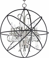 Maxim 25144ARPN Orbit Anthracite and Polished Nickel 25  Chandelier Lamp