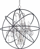 Maxim 25145ARPN Orbit Anthracite and Polished Nickel 30  Lighting Chandelier