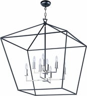 Maxim 25154TXBPN Abode Contemporary Textured Black / Polished Nickel Entryway Light Fixture