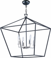 Maxim 25155TXBPN Abode Modern Textured Black / Polished Nickel Foyer Lighting