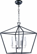 Maxim 25156TXBPN Abode Contemporary Textured Black / Polished Nickel Foyer Light Fixture