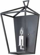 Maxim 25159TXBPN Abode Textured Black / Polished Nickel Wall Sconce Light