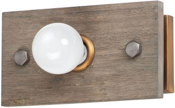 Maxim 25241WWDAB Plank Country Weathered Wood / Antique Brass Wall Light Fixture