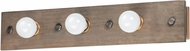 Maxim 25243WWDAB Plank Rustic Weathered Wood / Antique Brass 3-Light Bathroom Sconce