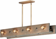 Maxim 25247WWDAB Plank Rustic Weathered Wood / Antique Brass Kitchen Island Light