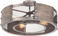 Maxim 25264BWWZ Outland Country Barn Wood / Weathered Zinc Ceiling Lighting Fixture