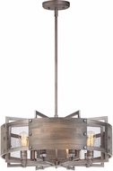 Maxim 25266BWWZ Outland Country Barn Wood / Weathered Zinc Drum Pendant Lighting Fixture