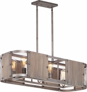 Maxim 25268BWWZ Outland Rustic Barn Wood / Weathered Zinc Island Light Fixture