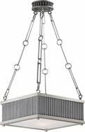 Maxim 26013WZSN Ruffle Weathered Zinc and Satin Nickel Pendant Light