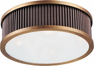 Maxim 26021OIBUB Ruffle Oil Rubbed Bronze and Burnished Brass Ceiling Light Fixture