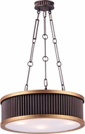 Maxim 26025OIBUB Ruffle Oil Rubbed Bronze and Burnished Brass Drum Pendant Light Fixture
